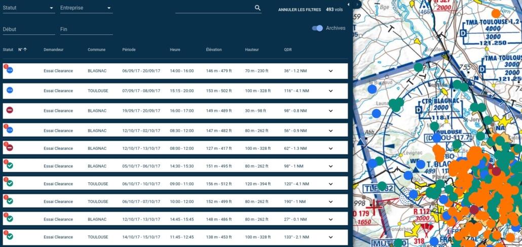 Traçabilité des vols de drones : exemple de Toulouse Blagnac
