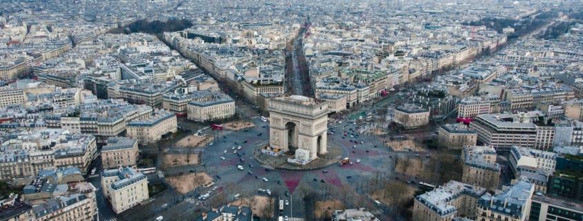 Paris vu d'un drone